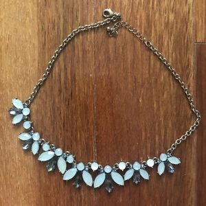 HM: Blue and white crystal necklace